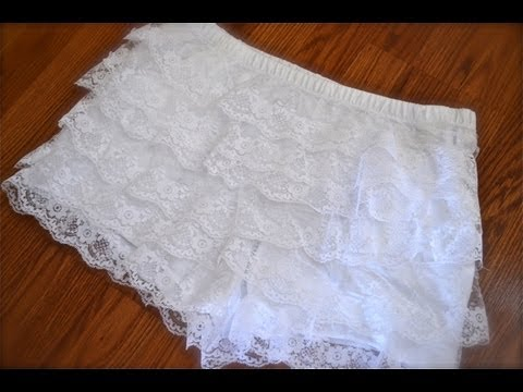 (Lace)How to make tiered lace shorts!