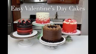 Easy Valentine's Day Cake Ideas | CHELSWEETS