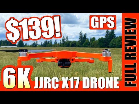 Fantastic 6K Drone! - JJRC X17 6K Foldable Gps Drone Review 💚