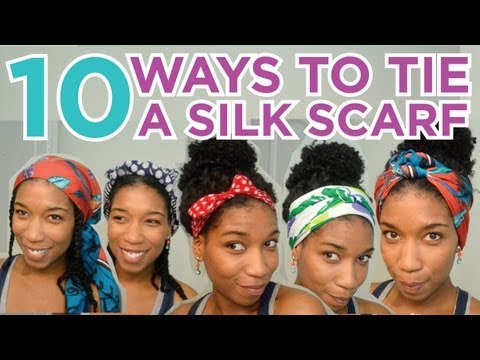 10 Ways to Tie A Silk Head Scarf