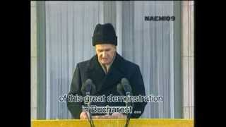 Nicolae Ceausescu LAST SPEECH