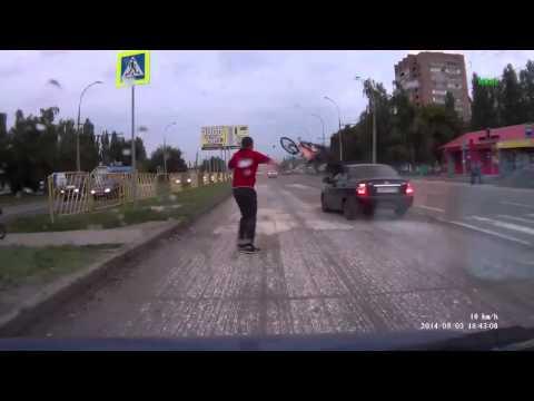 Авария с велосипедистом в Тольятти