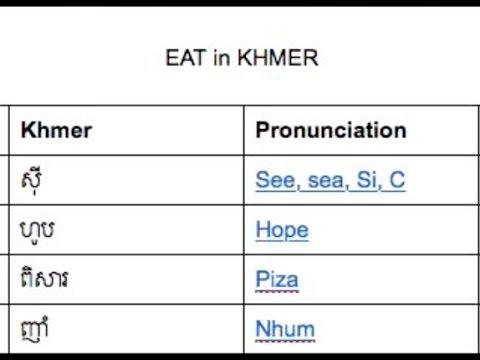 EAT in KHMER