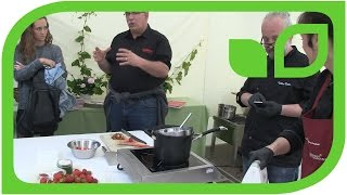 Tartelette mit Hibiscusquark und frischen Erdbeeren: Gärtnerische Kommentare. Teil 2