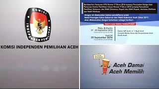Pengumuman Perubahan Jadwal & Persyaratan Pendaftaran Balongub-wagub Aceh 2017