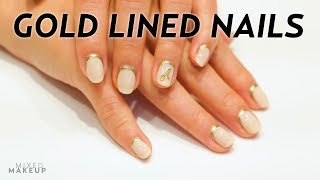 Stunning Gold Lined Nails by tenoverten! | Beauty Bytes