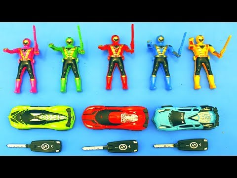 Power rangers dan mobil mobilan mainan anak | action figure and cars toys for kids