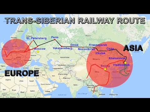 Trans-Siberian Railway Explained | Route, Map, Cities, Countries (видео)