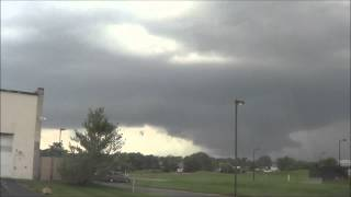 Wall Cloud Time Lapse near Wilmington DE June 30, 2015