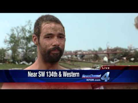 horse - Adam Mertz interviews man who survived the Moore tornado hiding in a horse stall. His home is gone.