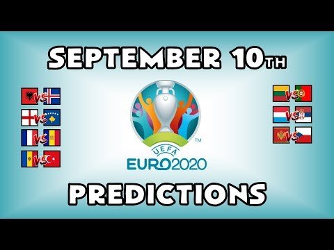 EURO 2020 QUALIFYING MATCHDAY 6 - PART 3 - PREDICTIONS