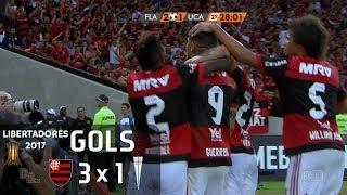 Gols - Flamengo 3 x 1 Universidad Católica (CHI) - 5ª Rodada Libertadores 2017 (Grupo 4) - 03/05/2017 Narração: Luís Roberto,...