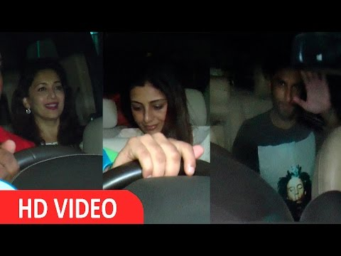 Madhuri Dixit,Shah Rukh Khan,Ranveer Singh & Others At Screening Of Film Fan