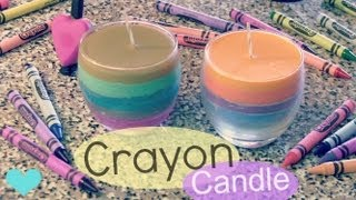 DIY CRAYON CANDLE - Home Decor - How To | SoCraftastic