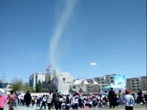 'Dust Devil' Twister Sucks Chinese Schoolboy Sky High!