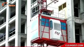 OEM Available CE approval Sc200/200 0-33m/Min Construction Hoist/Construction elevator hoist youtube video