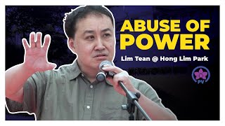 Video Abuse of Power speech by Lim Tean @ Hong Lim Park (Speakers Corner Singapore) MP3, 3GP, MP4, WEBM, AVI, FLV Februari 2019
