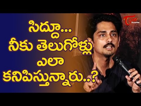 Siddharth Has No Respect For Telugus