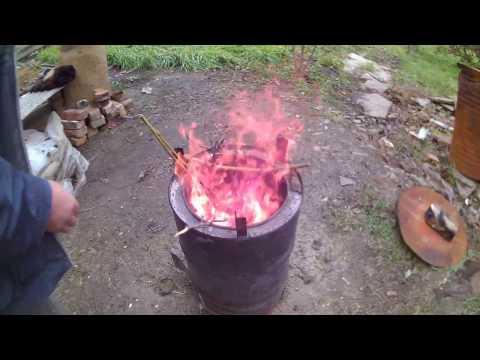 Печка из бочки для сжигания мусора своими руками для 15