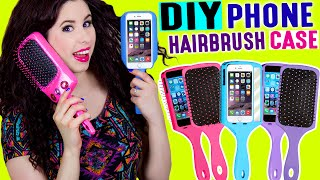 DIY Hairbrush Phone Case | Brush Your Hair With Your iPhone | Take Selfies With Your Hairbrush! by GlitterForever17