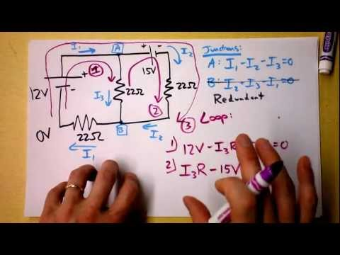 Doc Physics - Kirchhoff's Rules (Laws) Worked Example