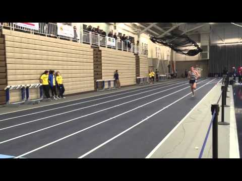 Stender and Ward in the mile at the Poyau Invitational