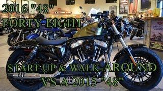 9. 2016 Harley-Davidson 48 [Forty-Eight]  VS  2015 48