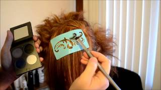 Stenciled Hair - YouTube