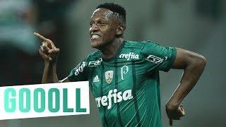Mina, Willian e Zé Roberto marcaram os gols da classificação do Palmeiras para as oitavas de final da Conmebol Libertadores Bridgestone. --------------------...