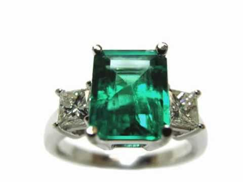 Emerald Engagement Rings Real Colombian Emeralds