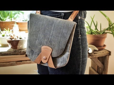 Making a Simple Leather Pouch Bag