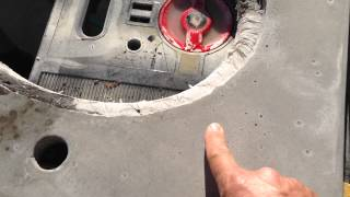 """I bought a variable speed 7"""" grinder.  150 grit sandpaper won't remove the black magic marker marks.  They are so far imbedded into the concrete, I need to take more off.  -  There are 23 different videos describing each step of the process we did.  You can just watch and review the specific videos you would like to understand better.  Please message me if you have any questions or comments."""