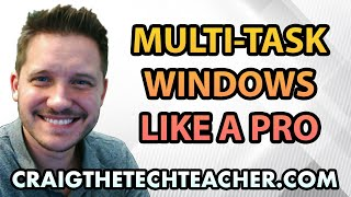 """This video is brought to you by: http://www.craigthetechteacher.com - Multi-tasking is one of the great features every operating system gives us. Windows 10 is rich with a new multi-tasking environment that lets you manage not only all of your running applications, but switch between running applications on different virtual desktops.If you're like me, you may have many different desktops open at any given time. One great feature of having multiple desktops is that you can have a """"set"""" of applications open on specific desktops. Sometimes I might have one desktop setup for """"browser research"""" while another desktop is setup for programming and development.Each respective desktop is setup as it's own instance so I can have any number of applications or programs running on it at any given time. They will be independent of one another so there is no overlap between them."""