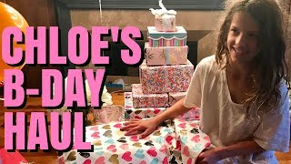 Chloe just turned 11.  Watch as she opens birthday gifts from her family.♥ Subscribe to my YouTube: http://goo.gl/bLXVcy♥ Chloe Doll Merchandise http://tinyurl.com/ChloeMerch🎵 Musical.ly: ChloesAmericanGirl♥ Instagram: http://instagram.com/ChloesAmericanGirl♥ Website: http://www.ChloesAmericanGirl.com♥ Address: Chloe's American GirlPO Box 251307Los Angeles, CA 90025Music by Epidemic Sound (http://www.epidemicsound.com)We Got It Covered - Sebastian ForslundAfterglow - Joachim NilssonTurn The Page - Alexander Bergil