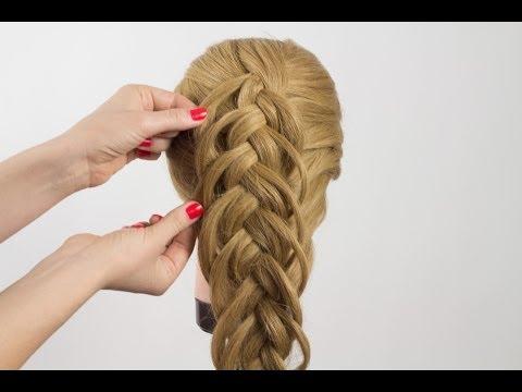 Видео плетения двойной косы