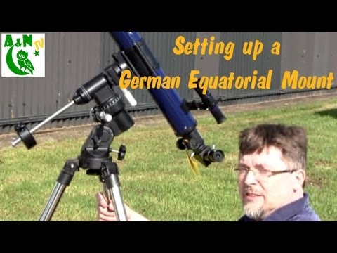 Setting up a small German equatorial mount