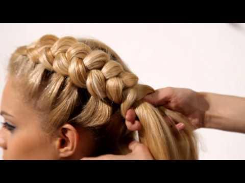 Плетение накладной косы видео