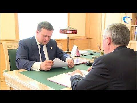 Андрей Никитин и Юрий Бобрышев обсудили ремонт дорог, благоустройство, новую школу и участки под жилье