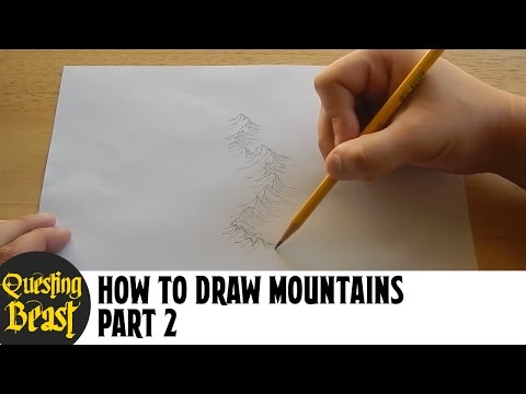 How to Draw Mountains - Part 2: Fantasy Map Making Tutorial for DnD