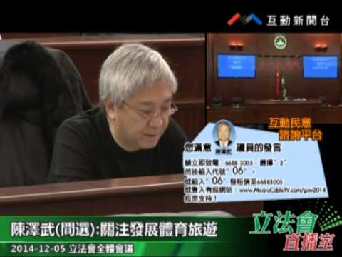 陳澤武  20141205立法會全體會議