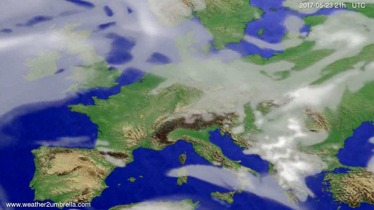 Cloud forecast Europe 2017-05-20