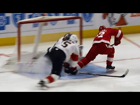 Video: Red Wings' Athanasiou steals puck from Panthers' Ekblad, beats Reimer on backhand