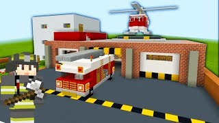 "Minecraft Tutorial: How To Make A Fire Station Part 1 ""2019 City tutorial"""