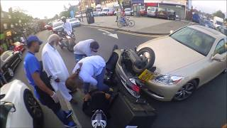 Video Motorcycle Hit By Car LONDON Air Ambulance Attends MP3, 3GP, MP4, WEBM, AVI, FLV April 2018