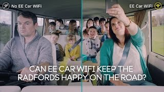 We took Britain's biggest family, the Radfords, on a road trip with 10 of their children to see if EE Car WiFi could keep everyone ...