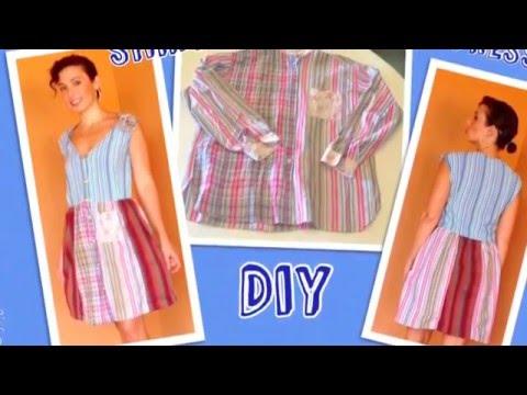 Vecchie camicie ??? Trasformiamole in un abito sexy da donna !! - Tutorial by Diana TOTO