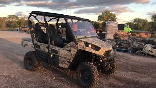 4. 2012 KAWASAKI KRT750D Side-by-Side-UTV Teryx4 4x4 EPS Camo - 4-PERSON ATV