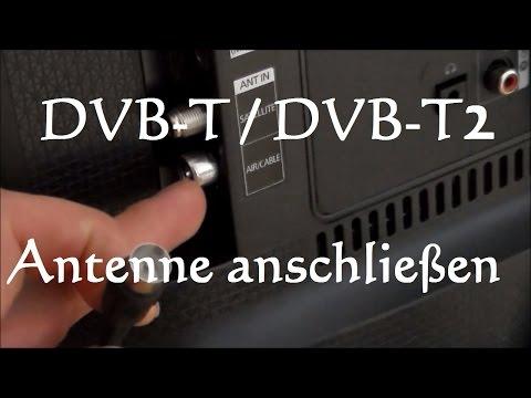 DVB-T Antenne anschließen - DVB-T2 Antenne anschließen - Zimmerantenne anschließen