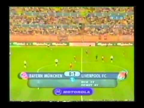 2001 August 24 Liverpool England 3 Bayern Munich Germany 2 UEFA Super Cup