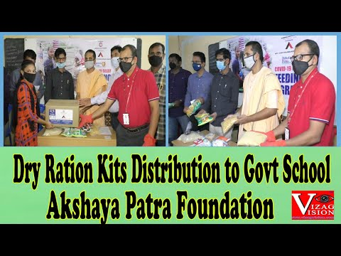 Dry Ration Kits Distribution to Govt School Students Akshaya Patra Foundation in Visakhapatnam Vizagvision
